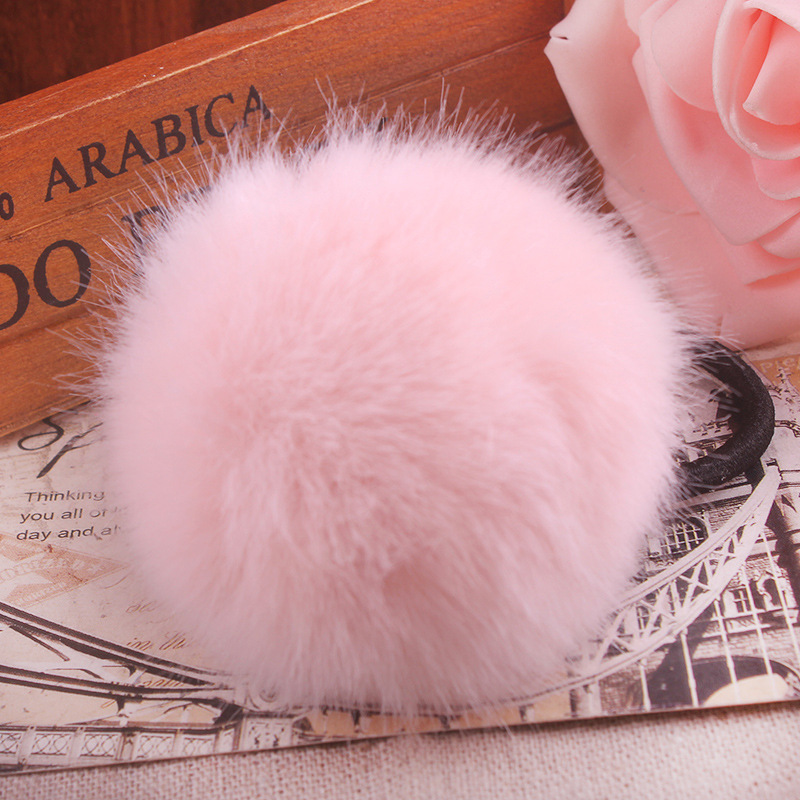 Pretty Sweet Pom Pom Balls Rabbit Fur Elastic Hair Band Rope for Women  Fashion Hair Accessories Ring Hair Band Headdress Flower 1edbc275a1db