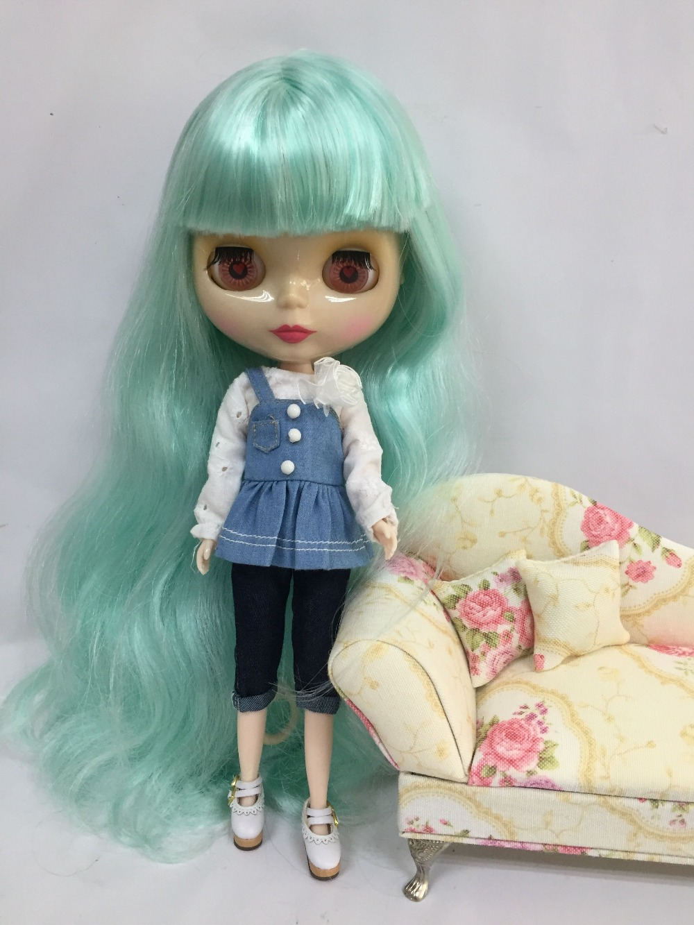 Free shipping cost Nude Blyth Doll ,curly hair Factory