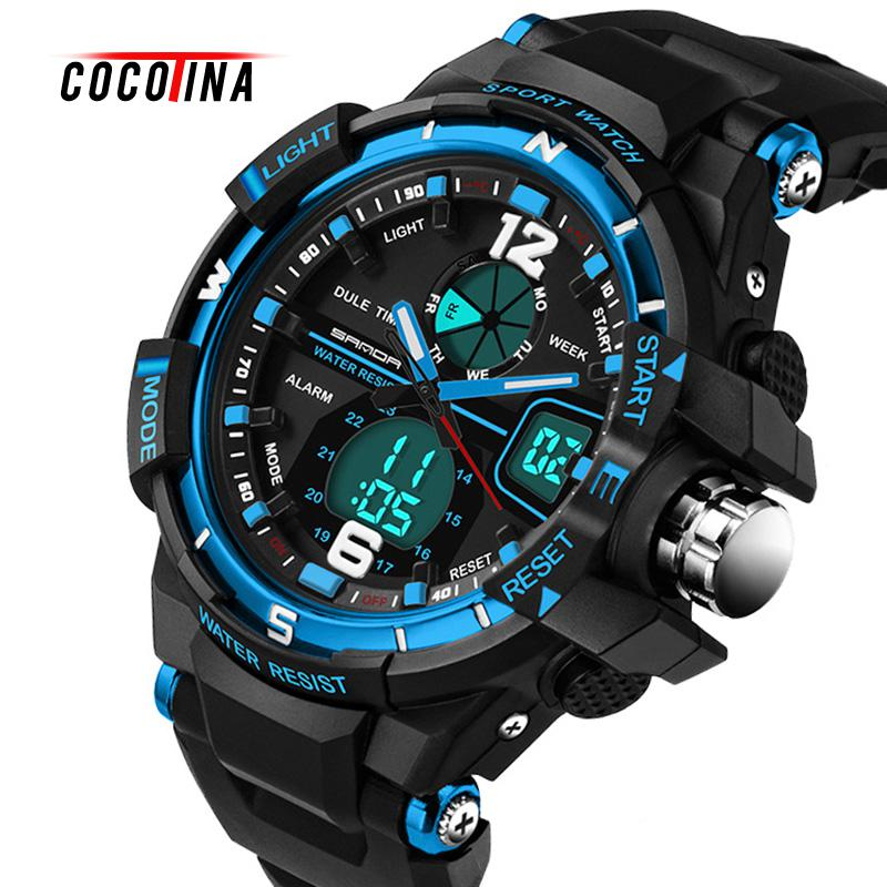 2016 brand new fashion men watch waterproof watches relogio masculino Military Sport luxury analog quartz watch