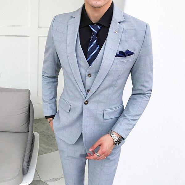 2018-Latest-Designs-Men-Suits-3-Piece-Plaid-Suit-Men-Plus-Size-Korean-Style-Dress-Slim (2)