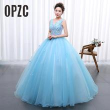 נסיכת כחול חדש חתונת שמלת 2020 Doubl הכתפיים למסיבה מקהלה מארח פלאיבאן שלב סטודיו תמונה