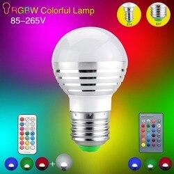 RGB светодио дный свет этапа E27 E14 AC85V-265V светодио дный волшебный шарик лампы RGBW Диско DJ вечерние клуб лампы для украшения праздника освещения