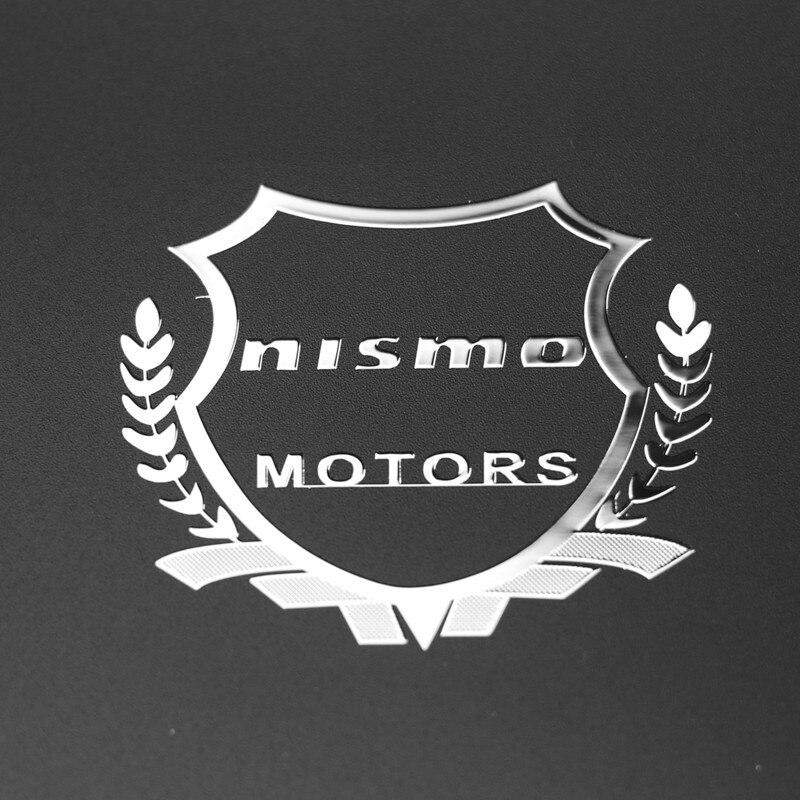 2pcs Excellent 3D metal car sticker Emblem Badge case For Nissan Nismo Tiida Teana Skyline Juke X-trail Almera Car Styling