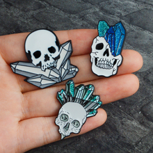 Skull head pins Brooch Badge Backpack Bag Jackets Accessories Men Women Brooch Punk pins Punk jewelry Skeleton jewelry