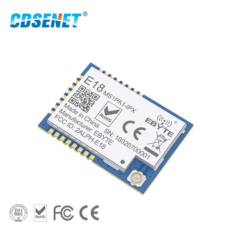 1pc 2.4GHz CC2530 PA Zigbee Wireless rf Module CDSENET E18-MS1PA1-IPX 20dBm Receiver Transmitter 2.4 ghz rf Transceiver CC2530 image