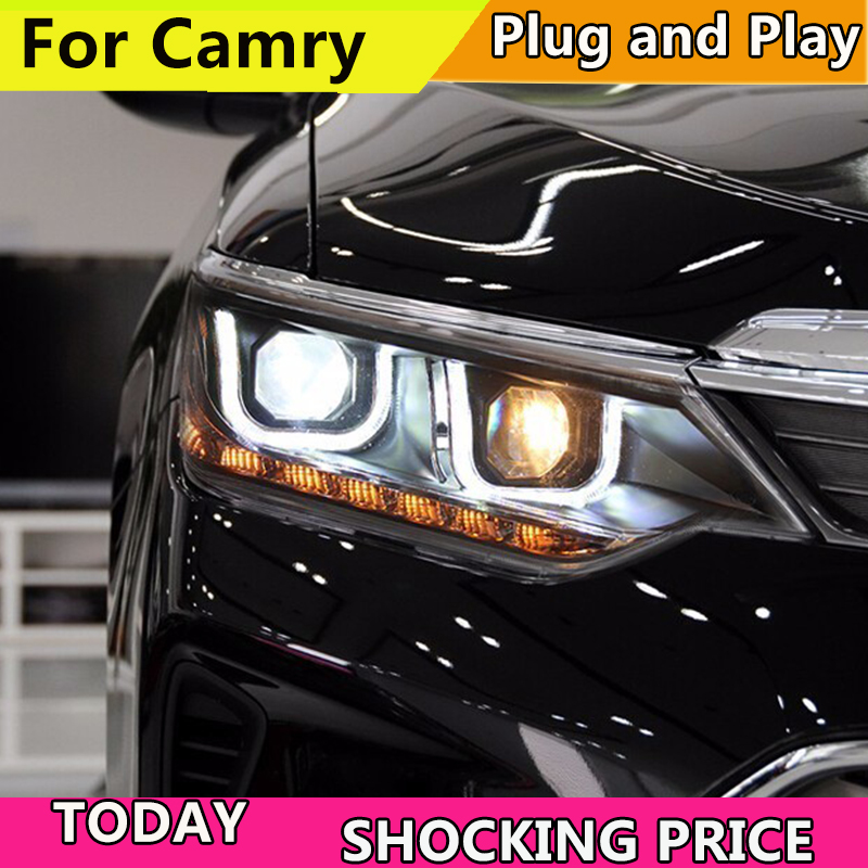 Car Styling Car Styling For Toyota Camry Headlights 2015 2017 New Camry V55 LED Headlight LED