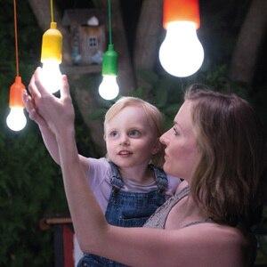 Image 4 - Bombilla de luz portátil lámpara de suspensión bombilla LED exterior camping jardín fiesta armario LED lámpara tira cable bombilla verlichting snoer tuin