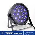 Плоский светодиодный Par 18x12 Вт 4в1 светодиодные лампы для световых сценических эффектов RGBW Смешивание цветов стирка освещение проектор Dmx уп...