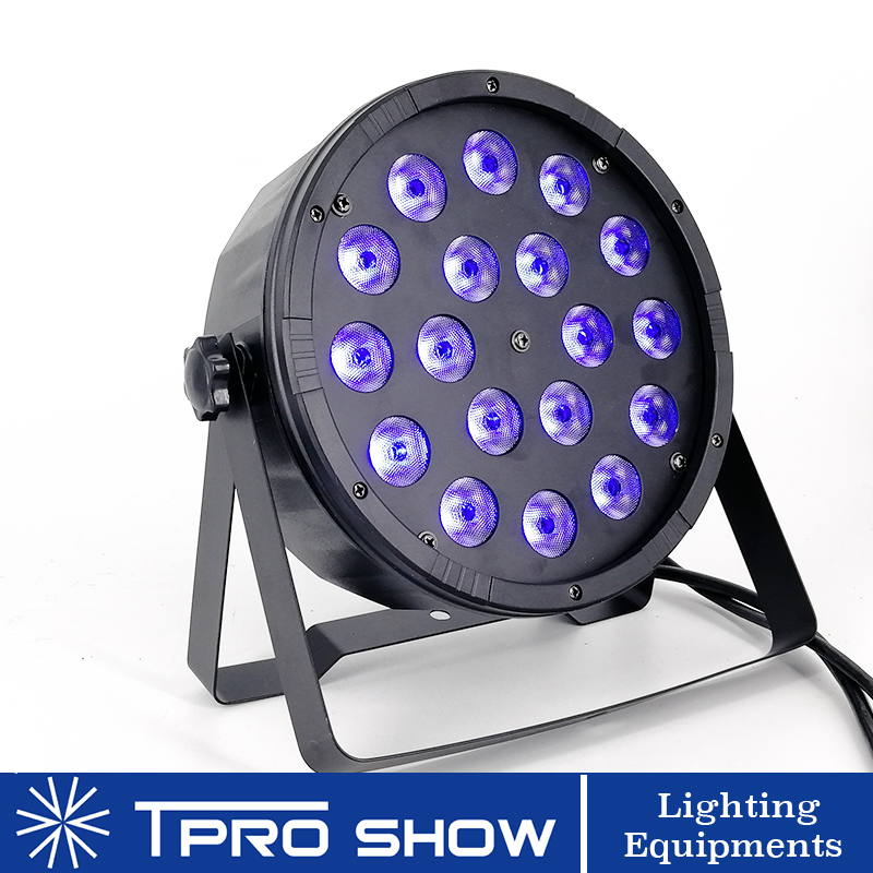 Flat LED Par 18x12W 4in1 LED Stage Lighting Effect RGBW Colors Mixing Wash Lighting Projector Dmx Control For Wedding Club Party