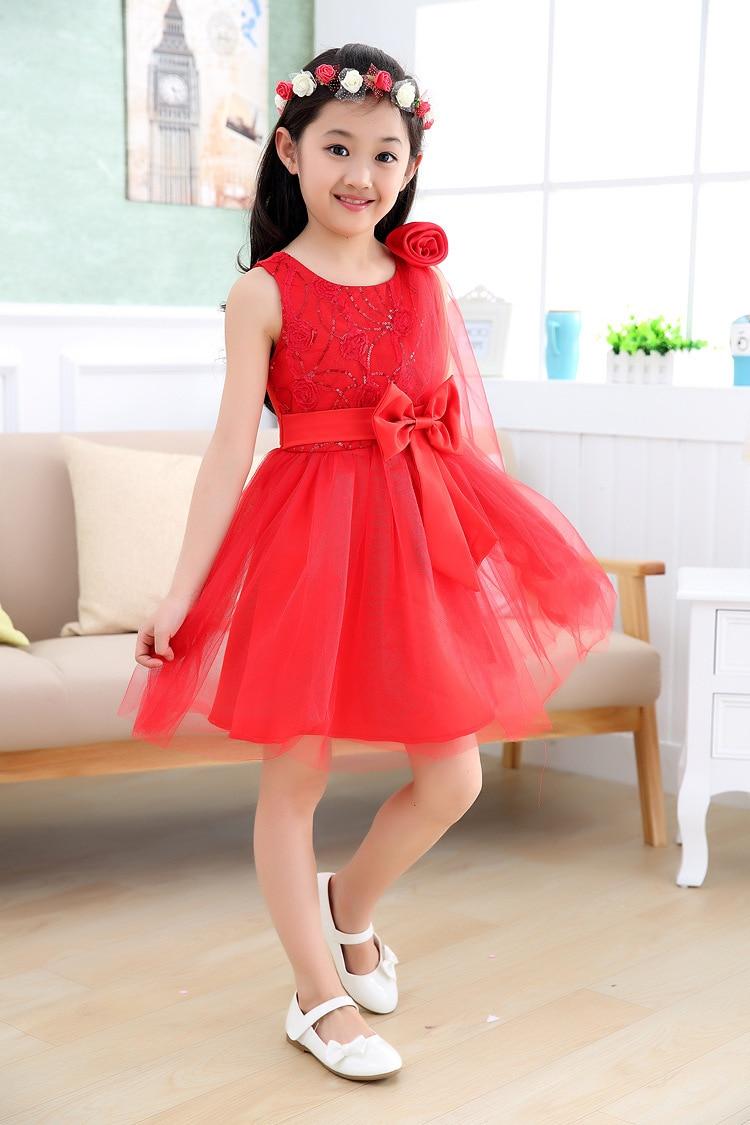 baby girls beautiful rose princess harness dress dance kids dresses