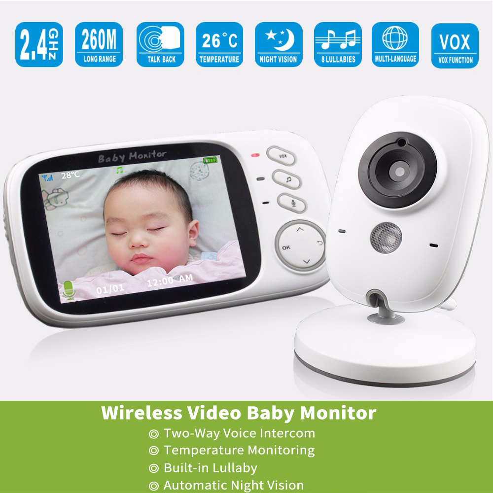 3 2 Inch Night Version Camera Wireless Baby Monitor High Definition Color Display Security Surveillance 2