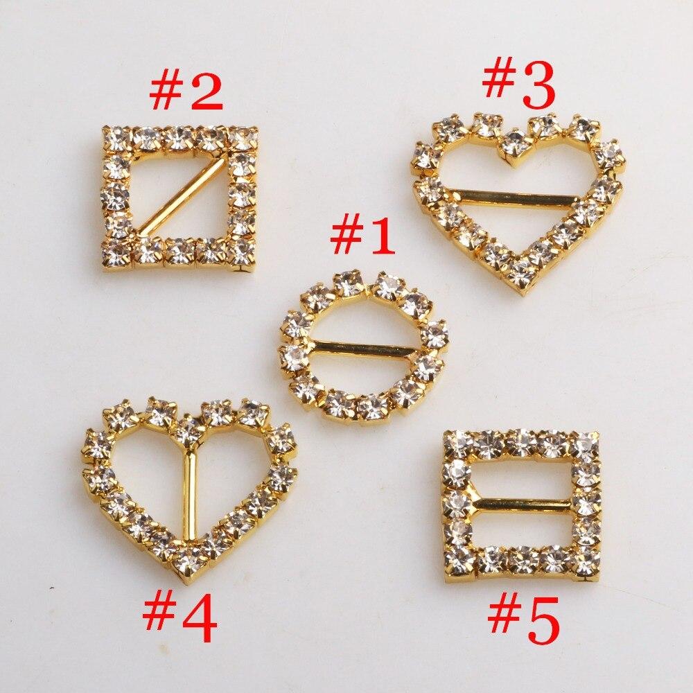 10 шт./упак. mix золото горный хрусталь пряжки слайд пряжки/DIY принадлежности для волос/Свадьба инициации ленты Кристалл
