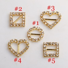 10pcs/pack mix Gold Rhinestone buckles slide buckles/DIY hair accessory/Wedding Initiation Ribbon Crystal