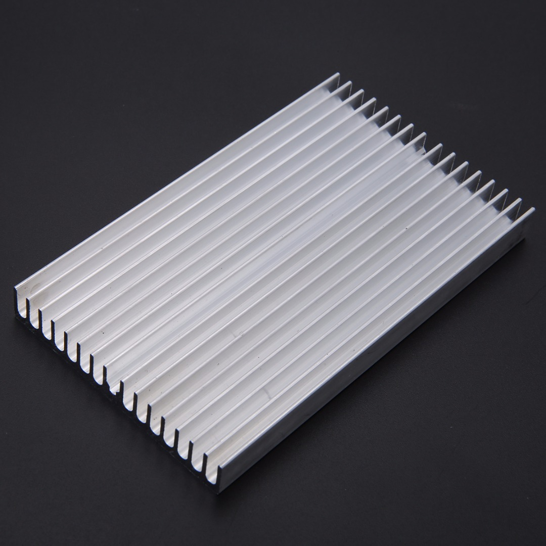 Aluminum Heatsink Radiator DIY Cooler Heat Sink Chip 100x60x10mm For LED IC Power Transistors hot 5pcs 19 19 5mm high quality aluminum heat sink for led power memory chip ic diy