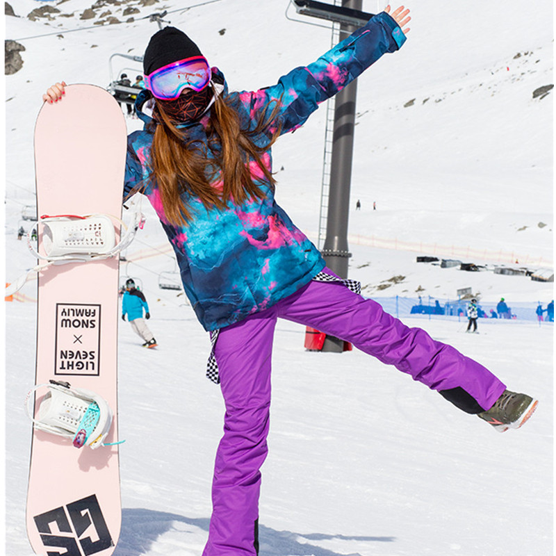 Simaining-30 Donne Tuta Da Sci Giacca Da Snowboard E Sci Alpino Pantaloni Impermeabile Traspirante All'aperto Inverno Cappotto Caldo Da Neve Set