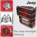 1 Combo set Steel JK Wrangler accessories Led Light guard cover hood for headlight tail light Parking Lamp