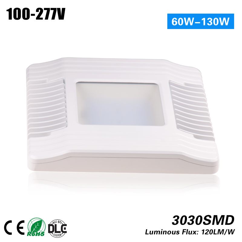 UL DLC CE ROHS 130w LED Gas Station light 100-277VAC replace 400MH HPS 3year warranty 1000led led gas station light 150w 16 000 lumen 500w 650w hid hps equal daylight 5 000 kevin ac100 277v waterproof ip65 canopy