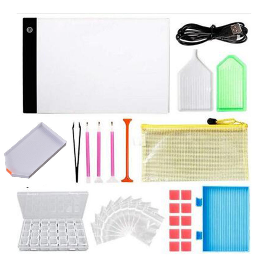 Needle Arts & Crafts Dimmable Lightpad Diamond Painting Cross Stitch Tools Ultrathin A4 Led Usb Light Pad Box Tablet For Drawing Diamond Embroidery Arts,crafts & Sewing