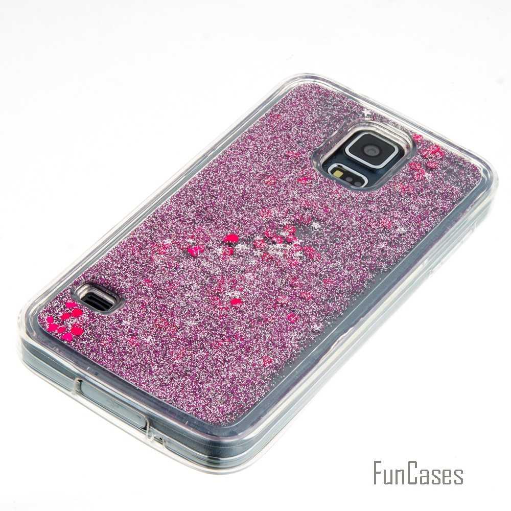 Coque Bling Love Heart Stars Tpu Quicksand Cassa Del Telefono Della Copertura Per Samsung Galaxy S5 S6 S7 Bordo J3 J5 2016 A310 A510 G360 G530