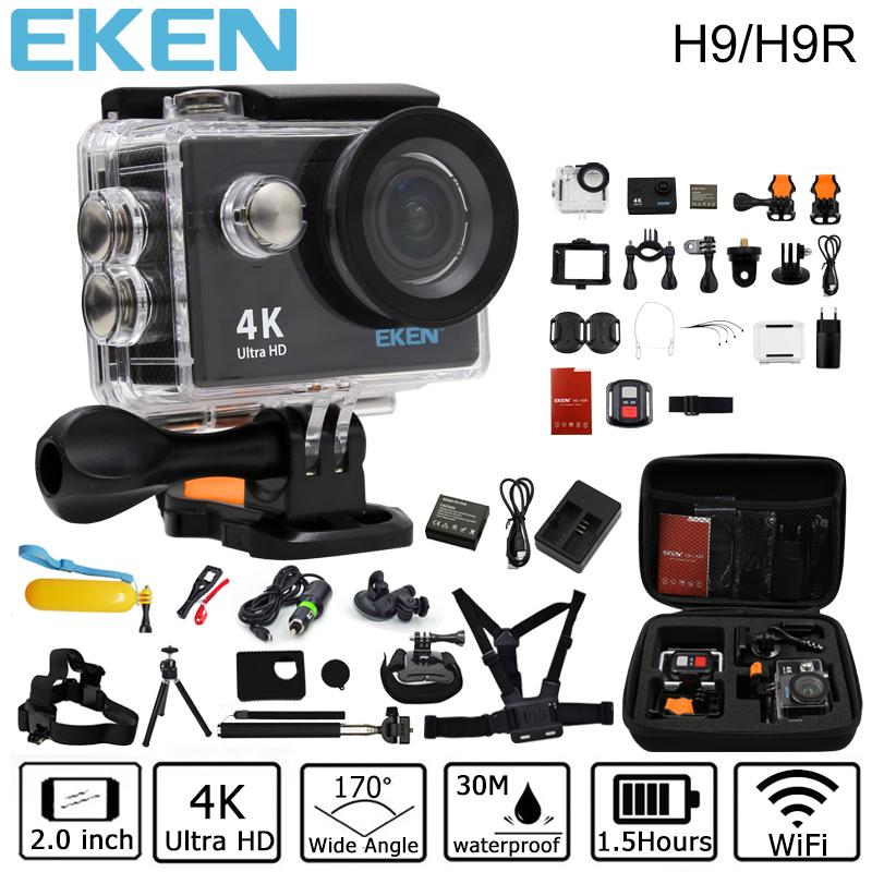 Prix pour D'origine Eken H9/H9R d'action caméra 4 K wifi Ultra HD 1080 p/60fps 720 P/120FPS aller étanche mini cam pro vélo vidéo sport caméra