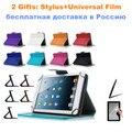 RÚSSIA ePacket Para Irbis Tablet TX11 10.1 polegada Universal PU LEATHER Case Capa Livro 10 Cores Stylus Livre + Centro filme