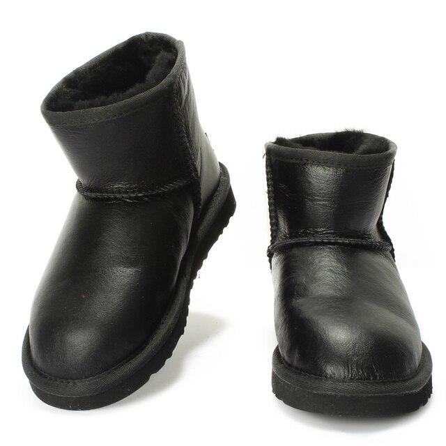 UVWP Impermeables Botas de Nieve para Las Mujeres Botines de Moda Botas de Invierno de Cuero de piel de Oveja Genuino 100% Natural Mujeres de la Piel Botas