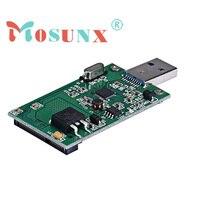 2016 New Mini PCI E MSATA To USB 3 0 External SSD Conveter Adapter Card Fe18