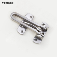DHL Free Shipping 50PCS Stainless Steel Door Anti Theft Fastener Chain Bolt Hotel Door Bolt