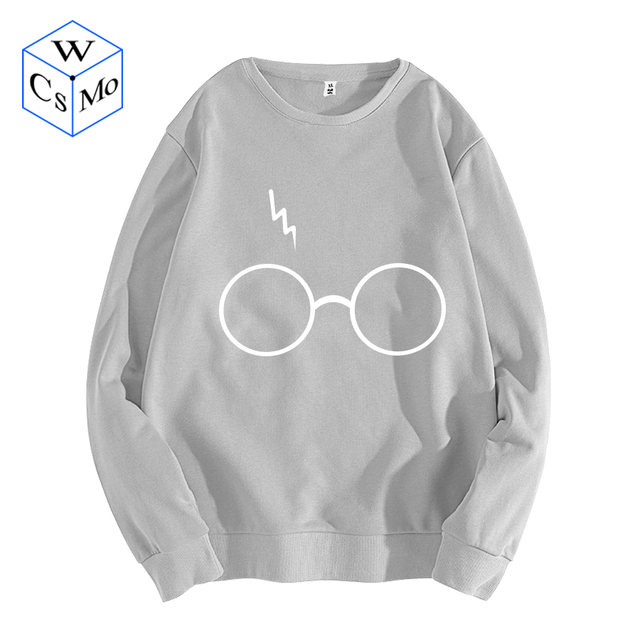 Women Casual Pullovers Hooded Printed Sweatshirts 2019 Autumn Warm Long  Sleeve Hoodies Female Harry Potter  s Glasses Pullover 2fde322235