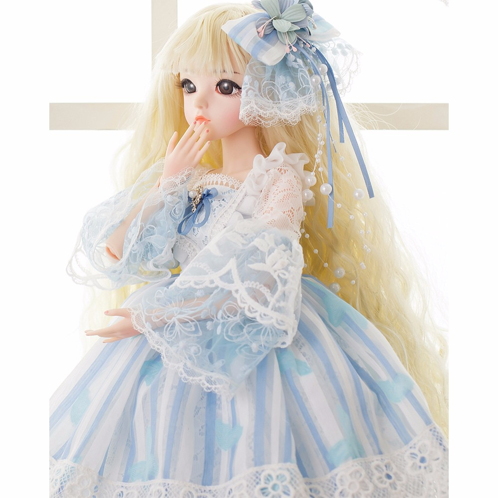 BJD 1/3 Princess Dolls With Dress Wigs Shoes Makeup 100% Handmade Beauty Toys Silicone 18 Joint Reborn Doll Girls Christmas GiftBJD 1/3 Princess Dolls With Dress Wigs Shoes Makeup 100% Handmade Beauty Toys Silicone 18 Joint Reborn Doll Girls Christmas Gift