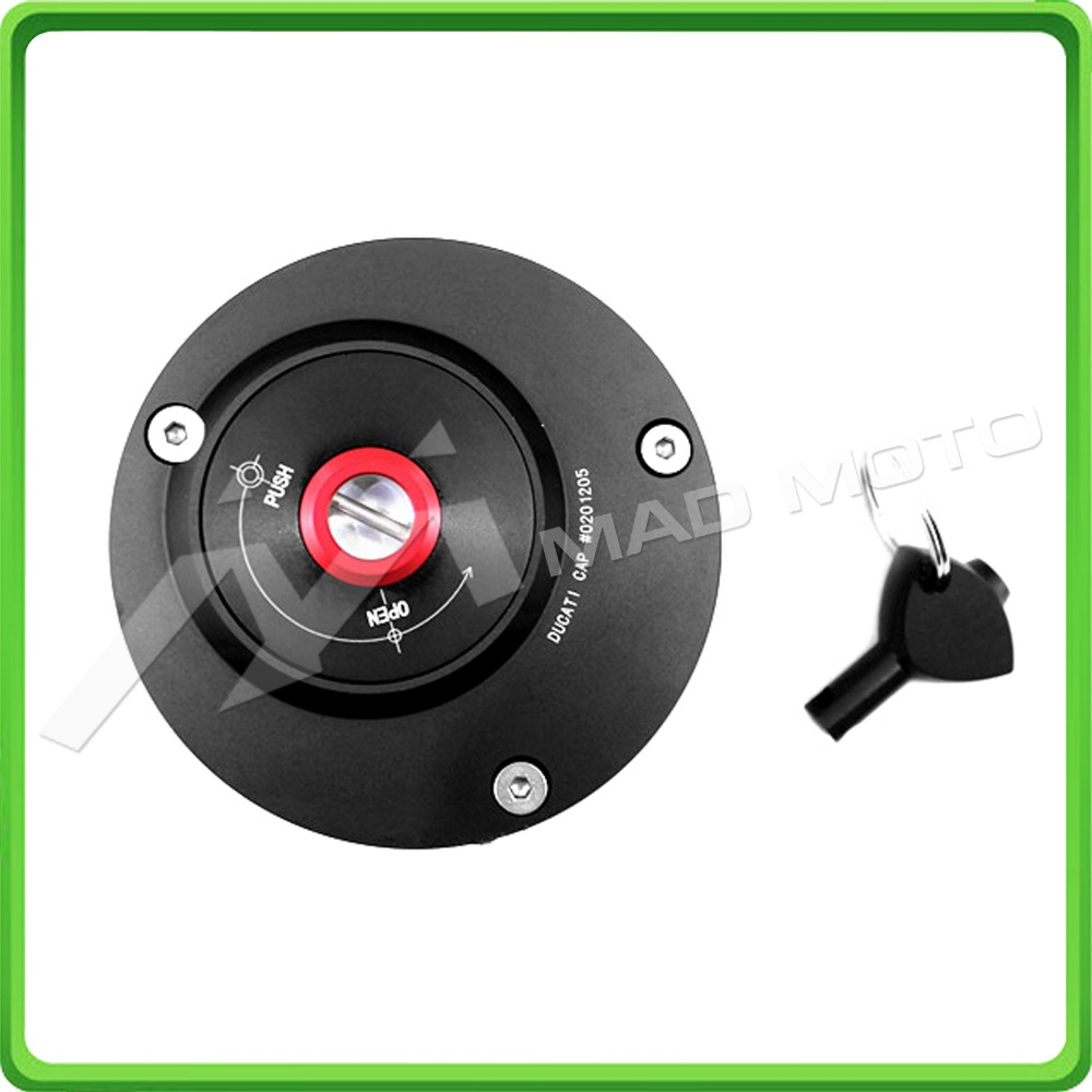 BLACK Fuel Cap / Gas Tank Caps For Ducati 748 848 916 996 998 1098/1098S 1198/1198S MONSTER (OTHER MODELS) All Years motorcycle cnc split riser clip on handle bars for ducati 748 749 916 996 998 999 848 1098 1198 black