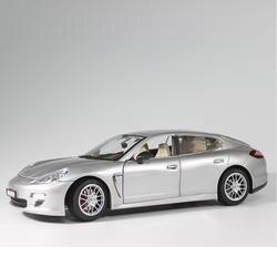 Серебряный palamela модель автомобиля 1:18 сплава Нержавеющаясталь статический Модель автомобиля игрушки электронные автомобиля со звуком и