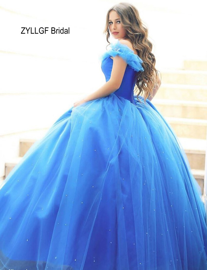 Aliexpress buy zyllgf bridal hot ball gown sweetheart plus aliexpress buy zyllgf bridal hot ball gown sweetheart plus size cinderella wedding dress tulle long blue wedding gowns with beadings fg130 from ombrellifo Image collections