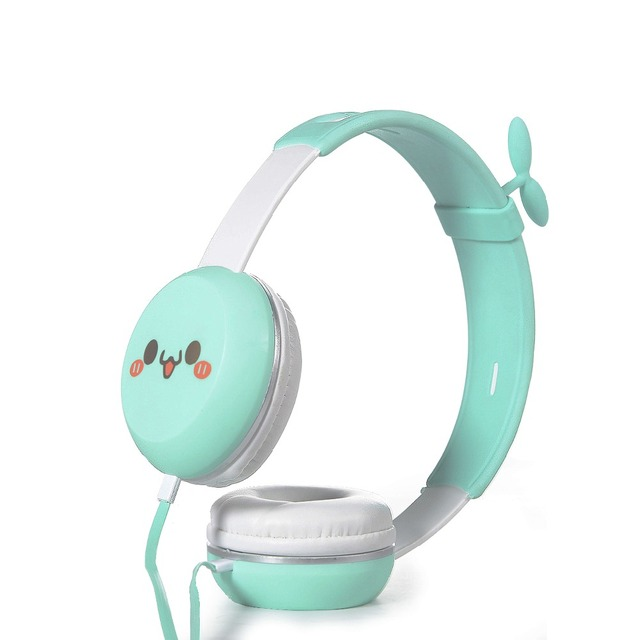 Cute Emoji Headband Stereo Headphones w/ Microphone Portable Soft ...