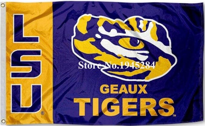 Louisiana State University Geaux Tigres Drapeau Bannière Nouveau 3x5FT 90x150 CM Polyester NCAA 9161, livraison gratuite