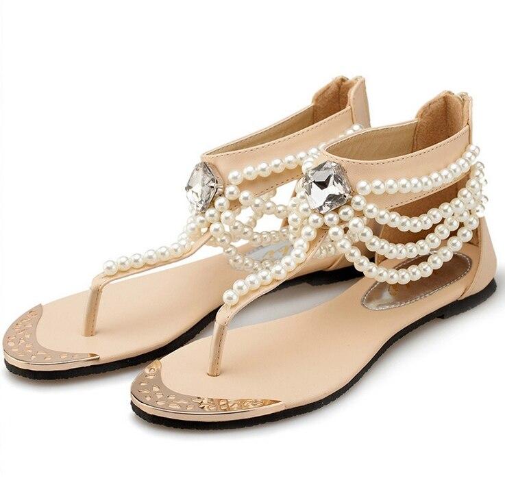 c7d41a07d4 4 colors summer femme womens sandles sandalia rasteirinha feminina summer  women s flat sandals black beige sandalias J 45 em Sandálias das mulheres  de ...