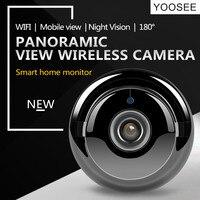 ZILNK Fisheye IP Camera 720P HD 180 Degree WiFi Camera Network Wireless Home Security IR MINI
