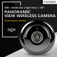 ZILNK Fisheye IP Camera 720P HD 180 Degree WiFi Camera Network Wireless Home Security IR MINI