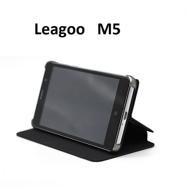 Galleria fotografica Leagoo M5 Cas De Luxe D'origine Leagoo M5 Téléphone Cas Protecteur PU Cuir Flip Couverture Pour Leagoo M5 <font><b>Smartphone</b></font>