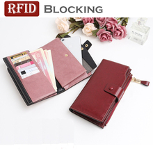 2019 SS New arrival women fashion Cow Leather clutch wallet long Hasp zipper purse High quality ladies