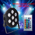 (4 pcs) dmx 7 canais de controle remoto sem fio led de luxo led plano light par 7x9 w rgb 3in1
