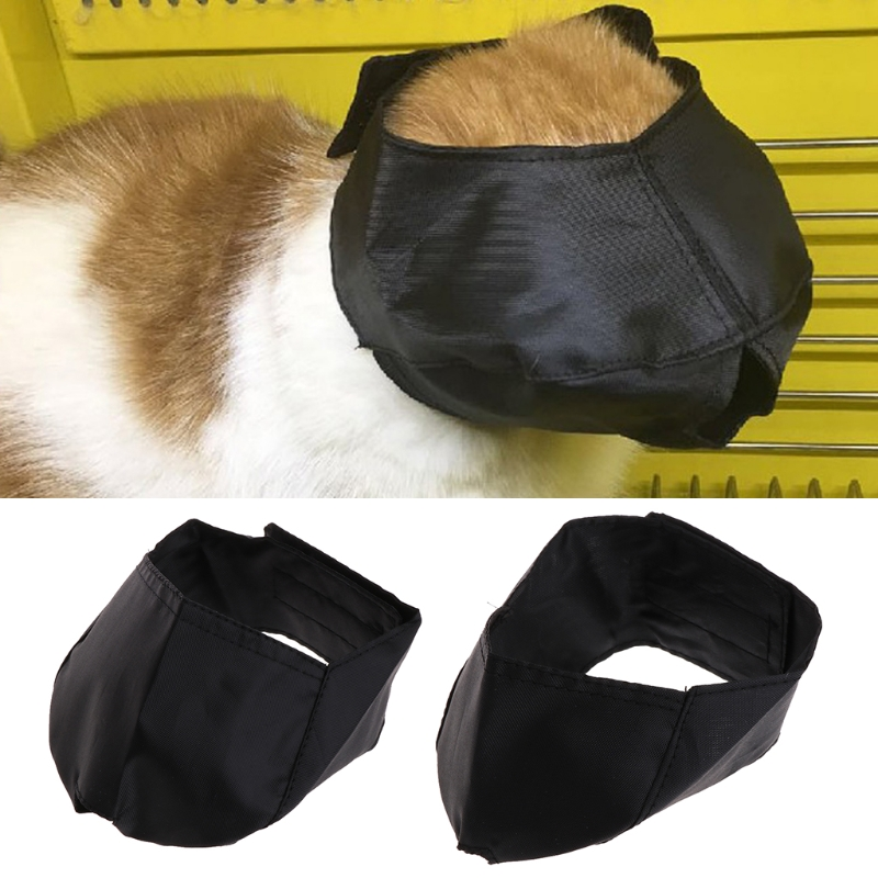 Cat Grooming Muzzle Adjustable Black Nylon Quick Washable Bathing Snout Anti Bite Cat Muzzle Cat Travel Tool For Groomer