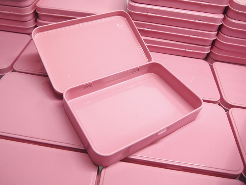 Nov prihod 133X88X20mm pravokotnik roza čaj škatla za sladkarije - Organizacija doma