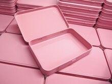 Nový příchod 133X88X20mm Obdélník růžový čajový kufřík kandovaný klenot krabička krabička kufr s kloubem 54pcs / lot