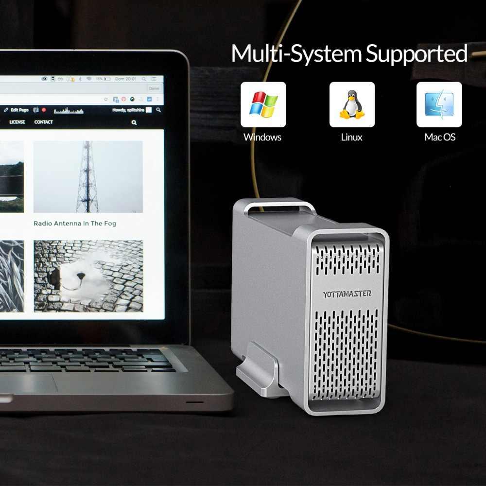 Yottamaster de alta gama HDD estación de acoplamiento Dual-bay 2,5 pulgadas USB3.0 a SATA3.0 carcasa externa HDD 8TB apoyo Raid 0/1/SPAN