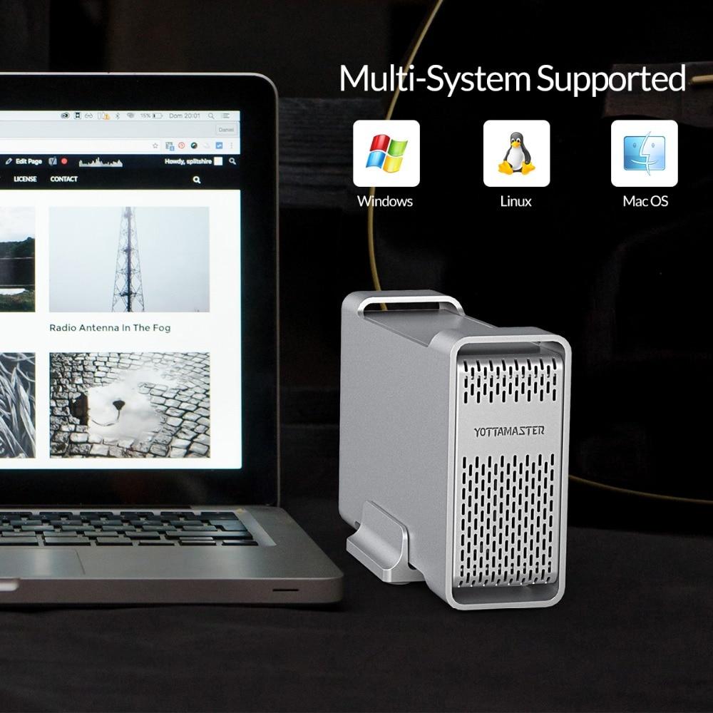 Yottamaster haut de gamme HDD Station d'accueil double baie 2.5 pouces USB3.0 à SATA3.0 boîtier HDD externe 8 to Support Raid 0/1/SPAN - 5