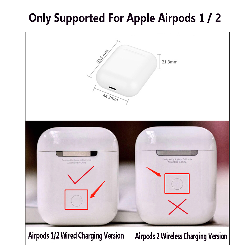 Cute Bluetooth Wireless Earphone Case For Apple AirPods 1 2 Silicone Charging Cartoon Pattern Cat Stitch Minnie Protective Cover in Earphone Accessories from Consumer Electronics