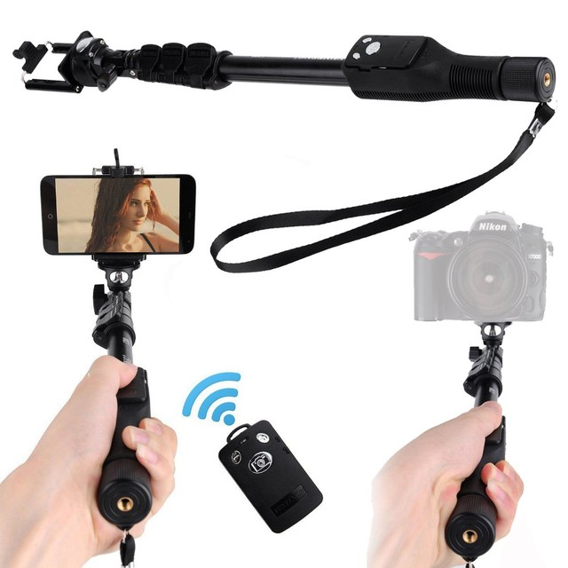 Photo YUNTENG 1288 Extendable Selfie Monopod With Bluetooth Remote+228 Tripod Phone Holder