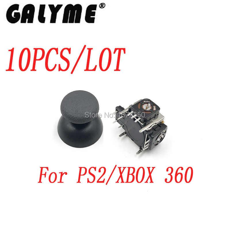 10 pz/lotto ps2Playstation Mushroom Analogico Thumbstick per xbox 360 xbox 360 controller thumb stick cap Controller 3D Joystick Analogico