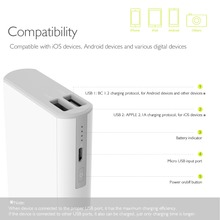 10000mAh Power Bank 18650 Phone Battery Charger Dual USB Powerbank for iPhone Samsung Fast Charging  External Battery